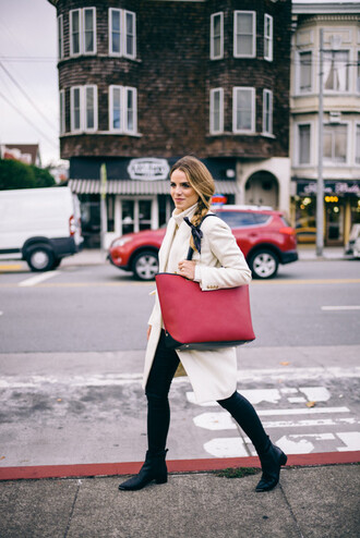 gal meets glam blogger bag coat jeans shoes