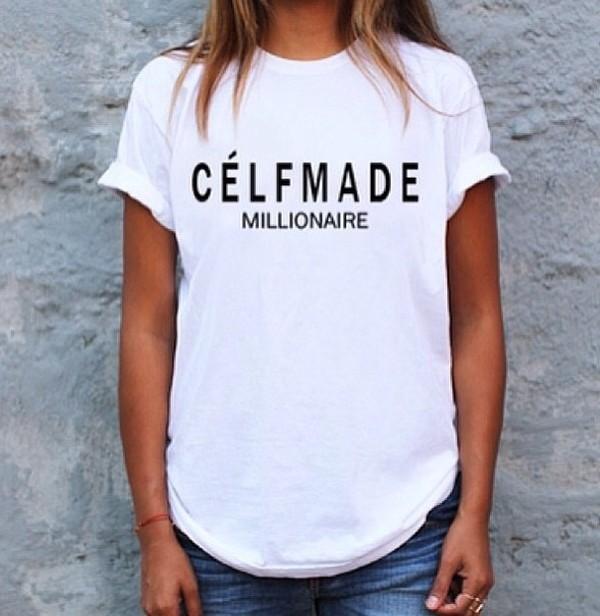 t-shirt celfmade celine celfmademillionaire celineparody parody t-shirt top festival