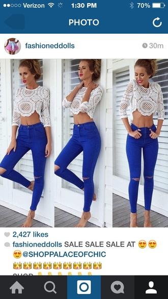 pants blue pants