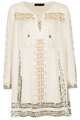 **Embroidered Smock Dress by Kate Moss for Topshop - Topshop