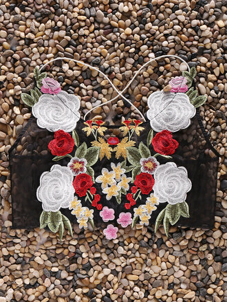 top summer floral spring fashion style crop tops cropped flowers colorful trendy rosewholesale.com embroidered
