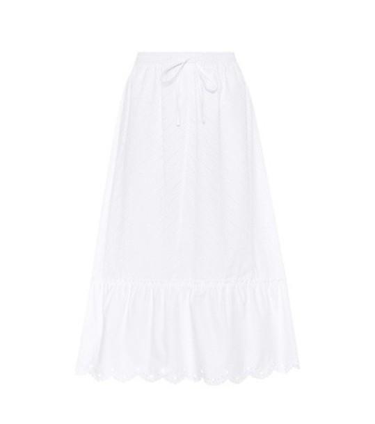 McQ Alexander McQueen Cotton skirt in white