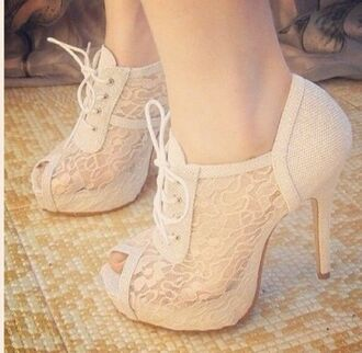 shoes wedding lace up boots high heels elegant dressy