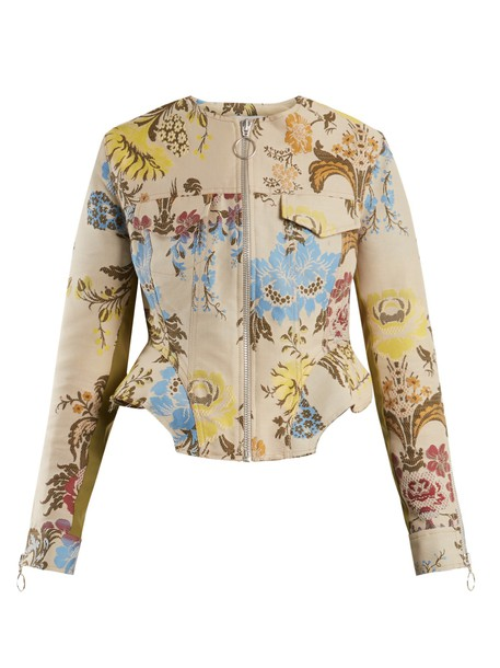 MARQUES'ALMEIDA jacket jacquard floral cream