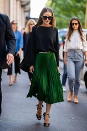skirt,streetstyle,fashion week,blogger,blogger style,midi skirt