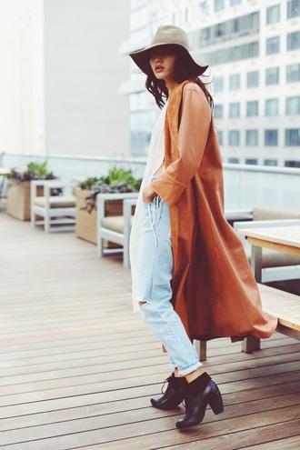 natalie off duty blogger shoes jacket long coat