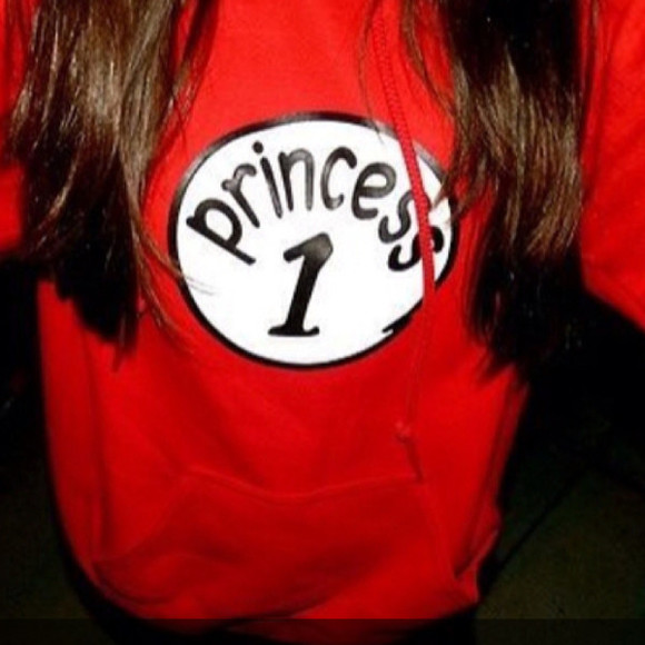 swimwear clothes sweater princess thing 1 princess 1 hoodie