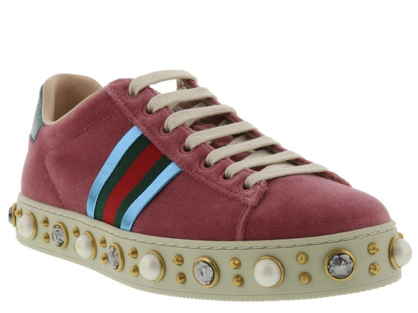 gucci pink shoes