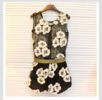 floral daisy flower romper