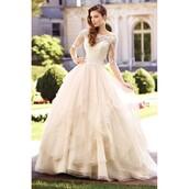 dress,floor length dress,organza,wedding dress