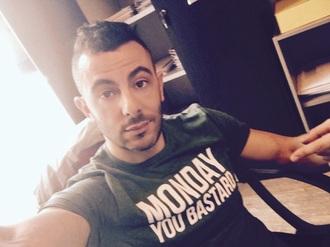 t-shirt guys muscle menswear green monday