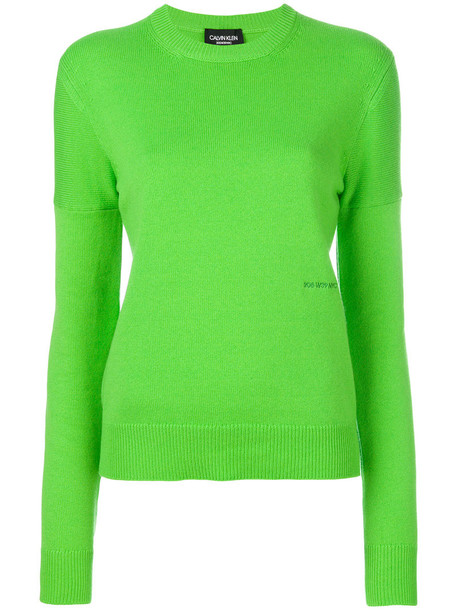 CALVIN KLEIN 205W39NYC jumper women green sweater