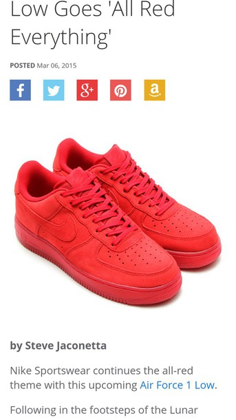 shoes red air force ones