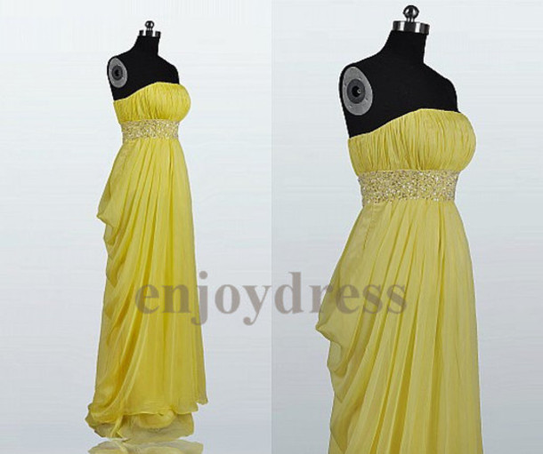 the gallery for gt yellow prom dresses 2014