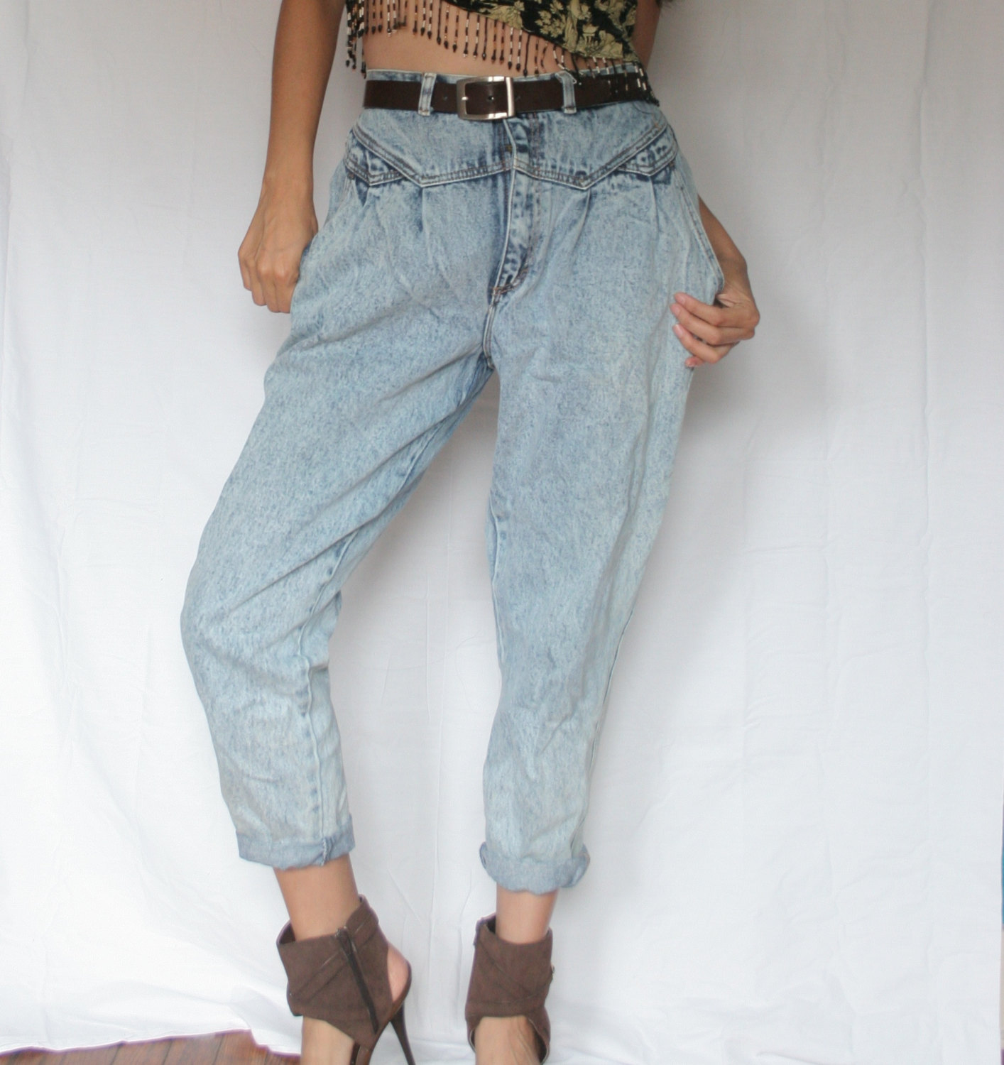 395e54c6 Womens Vintage 80's Acid wash New Wave high waist Gitano jeans/ BOYFRIEND  ACIDWASH JEANS/ Gitano Jeans