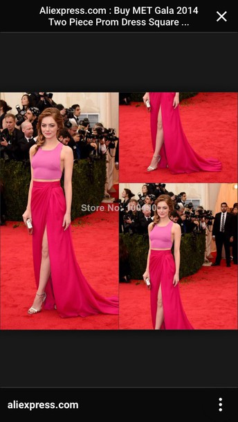 skirt metgala2014 red carpet outfit high slit maxi skirt bridesmaid