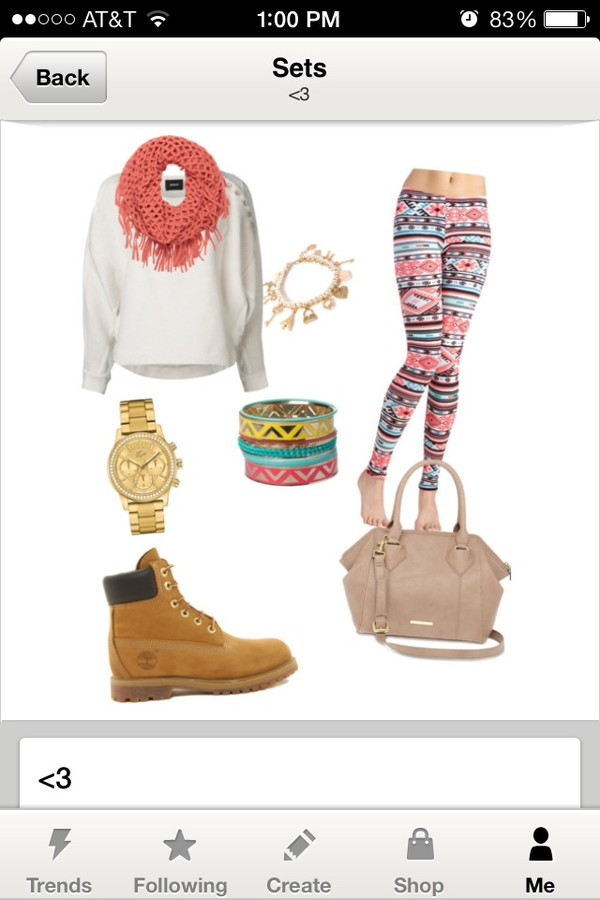 shoes timberlands pants bag scarf sweater