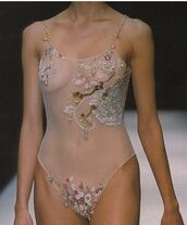 underwear,bodysuit,jewelled,lace,sequins