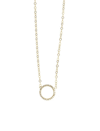 Diamond Notch Necklace - Tara Hirshberg Jewelry