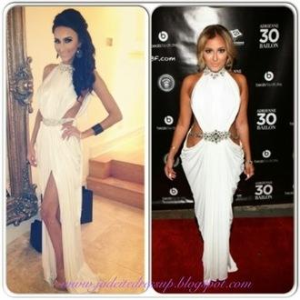leg slit dress glamour jewels open back dresses