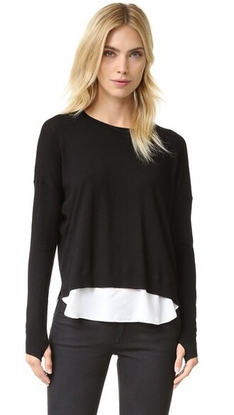 pullover black sweater