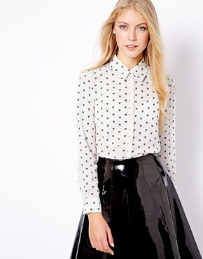 Mango | Mango Fox Print Blouse at ASOS