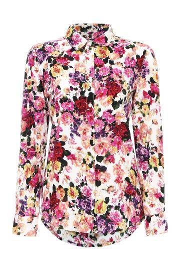 751f1e86e Long Sleeve Floral Print Shirt - US 14.95 -YOINS