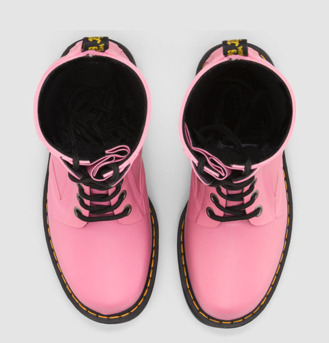 Dr marten 14 eyelet wellingtons pink waterproof size 8 (customised laces optional)