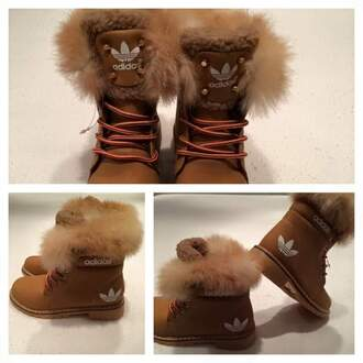shoes adidasboots adidas boots fur snowboots gloves adidas shoes ankle boots fur boots brown adidas boots with furr belt bag baige addidas boots with fur brown boots brown black or tan blacnorbtan addidas stella mccartney adidas boots women black