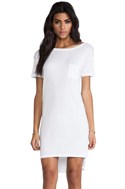 T by Alexander Wang dress classic white