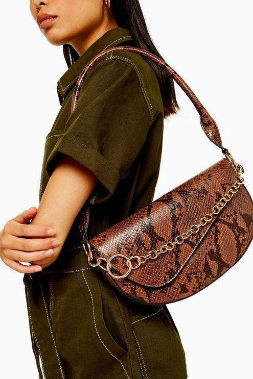 Sienna Snake Shoulder Bag - Multi