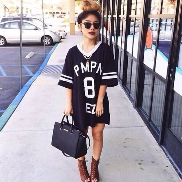 dress shoes sunglasses peep toe boots jersey dress swag oversized t-shirt jersey girl