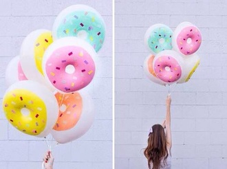 home accessory donut ballon lovely cute food hungry rose pink blue tumblr hot yellow rainbow