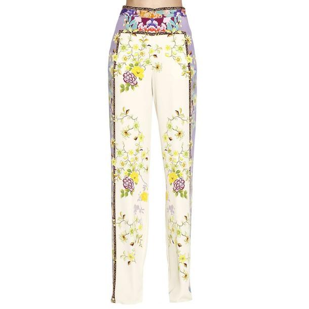 ETRO pants women yellow cream