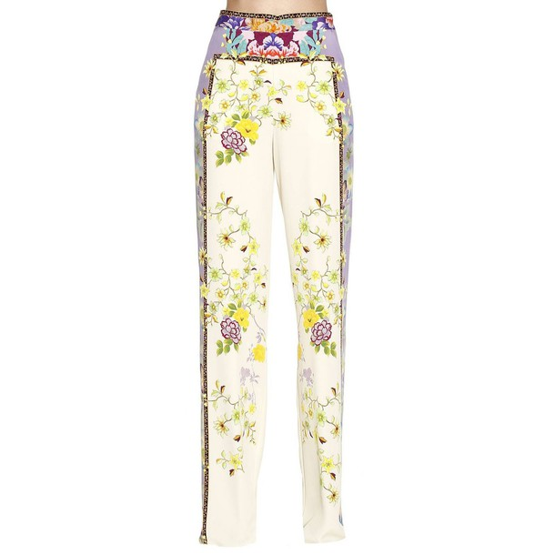 pants women yellow cream