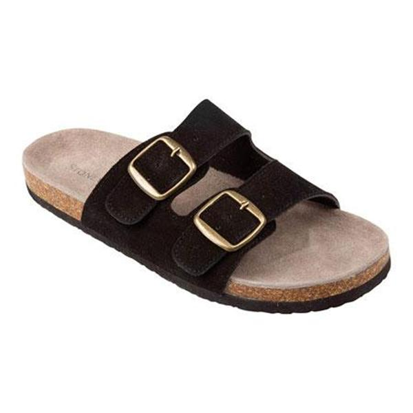 Stoney River Women's Black 2 Buckle Sandals at Blain's Farm & Fleet