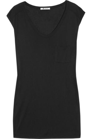 T by Alexander Wang|Muscle jersey T-shirt|NET-A-PORTER.COM