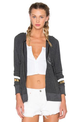 hoodie beach love peace yoga black