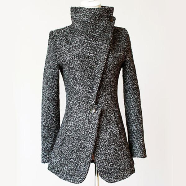 coat elegant lapel
