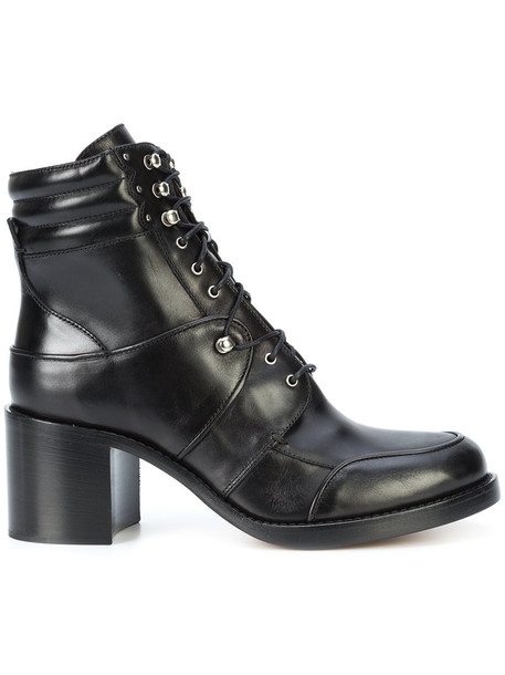 tabitha simmons women lace leather black shoes