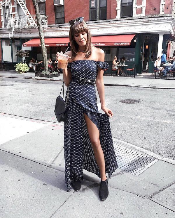 1b67ef40c5e798 dress tum slit dress tumblr maxi dress long dress off the shoulder off the shoulder  dress.