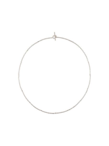 women necklace gold white grey metallic jewels