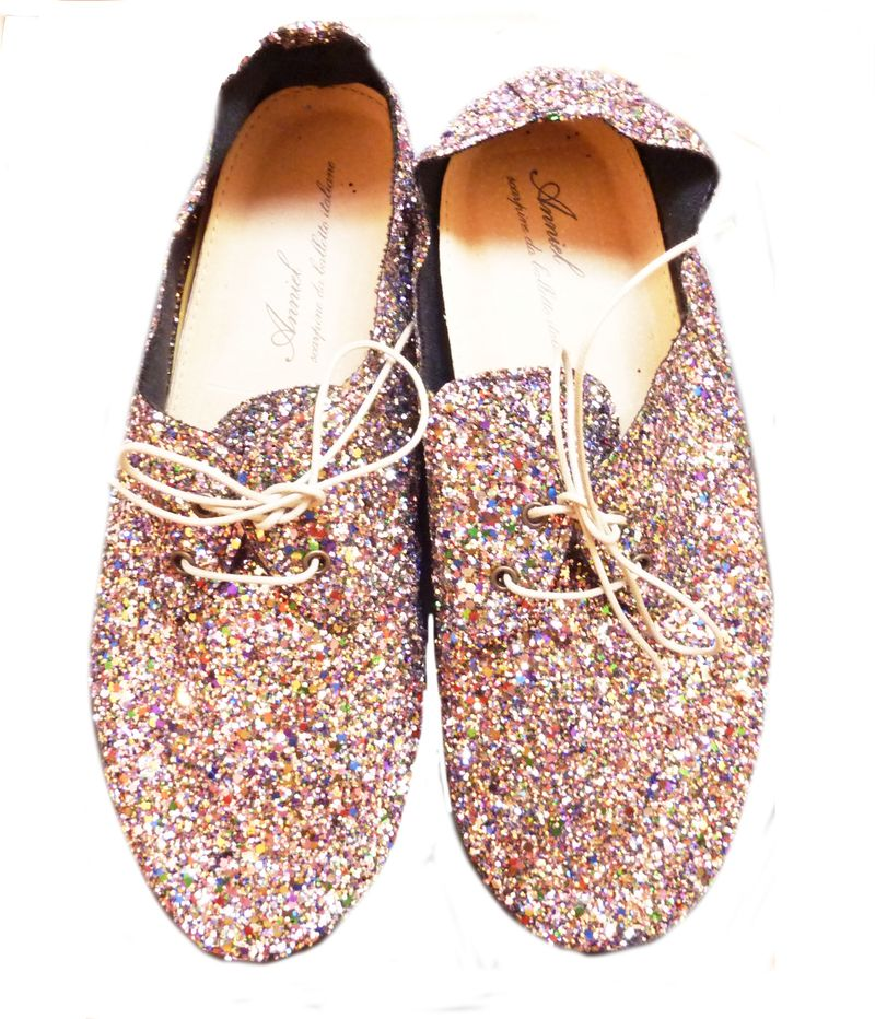 Boutique: derbys anniel paillettes multicolores