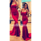 Fashion women red strapless slim fishtail long dress - $19.99