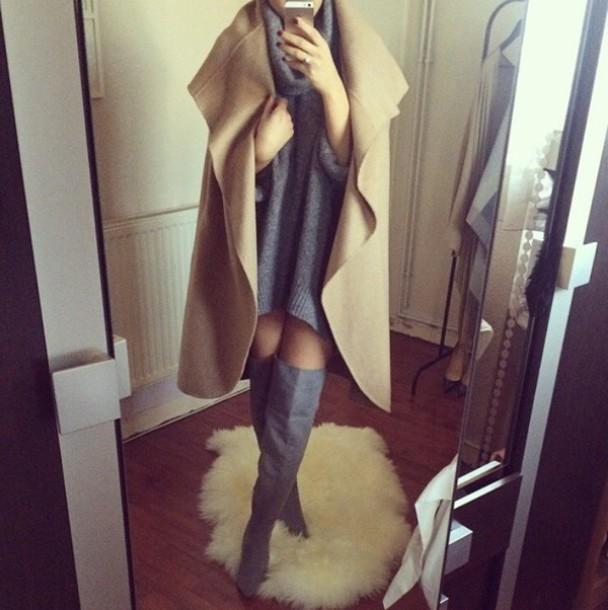 sweater shoes boots flat boots no heel boots coat dress jacket