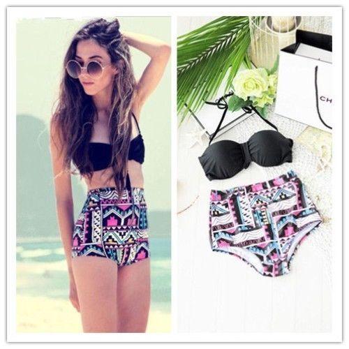 Up padded bra beach swimsuit bathing suit swimwear set