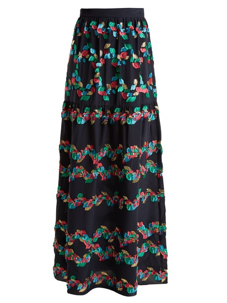 Peter Pilotto skirt silk navy