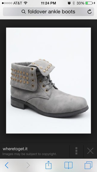 studs ankle boots