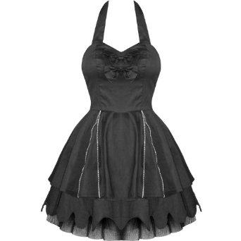 Black zips goth emo punk mini prom party clubbing dress: amazon.co.uk: clothing