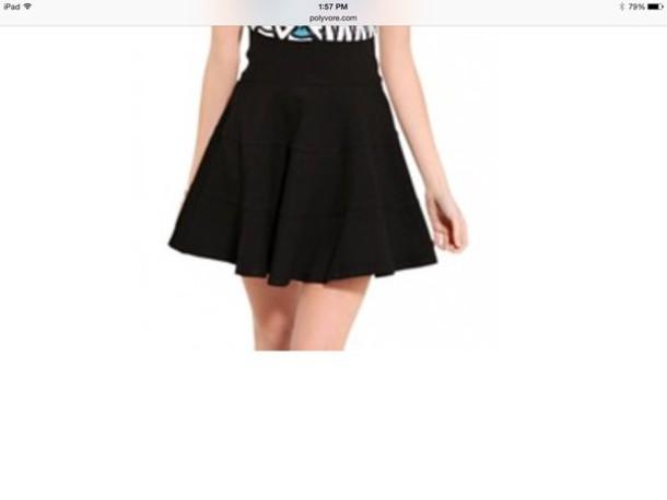 skirt blak high waisted
